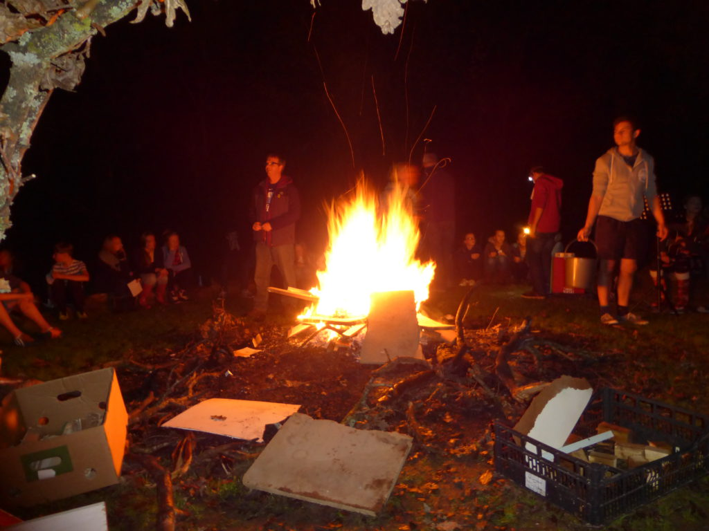 Assured, what young adult ministry flyer bonfire apologise